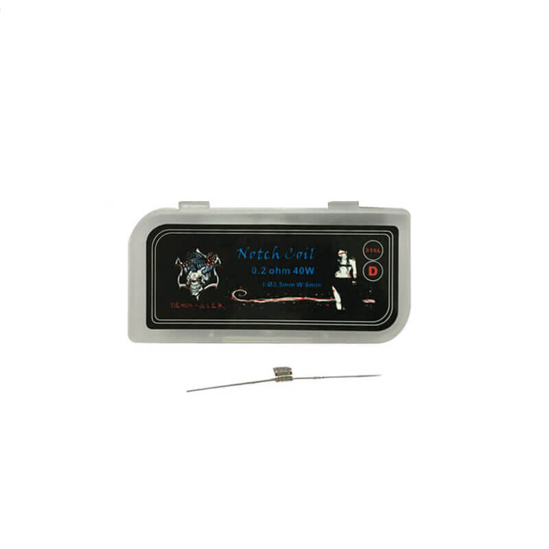 316L Stainless Steel Notch Coil C/D/E - 0.2ohm (10 stk)