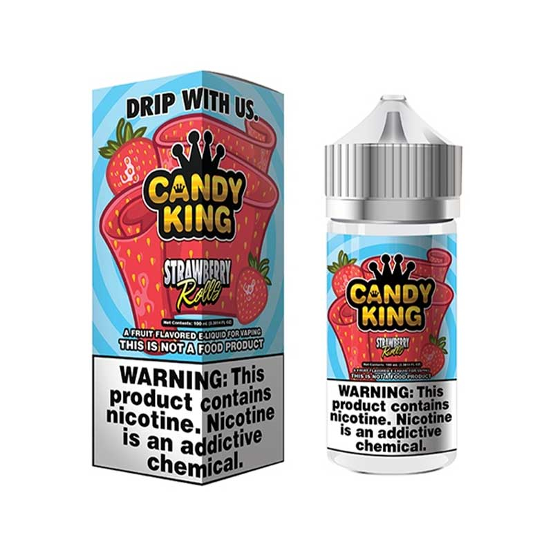 100ml Candy King Strawberry Rolls (utsolgt)