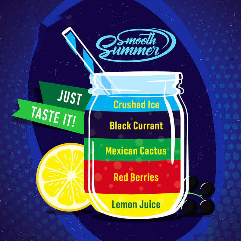 Smooth Summer - Lemon Juice, Red Berries, Mexican Cactus, Black Currant, Crushed Ice (LRMBC) - 30ml