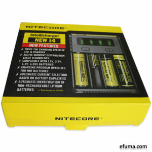 4-slot Nitecore Intellicharger New I4 Li-ion/NiMH Batteri