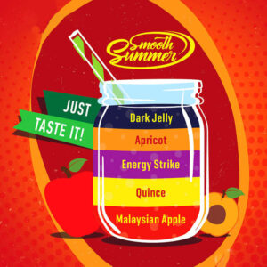 Smooth Summer - Malaysian Apple, Quince, Energy Strike, Apricot, Dark Jelly (MQEAD) - 30ml