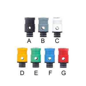 510 Delrin and Teflon Drip Tips + Adjustable Airflow